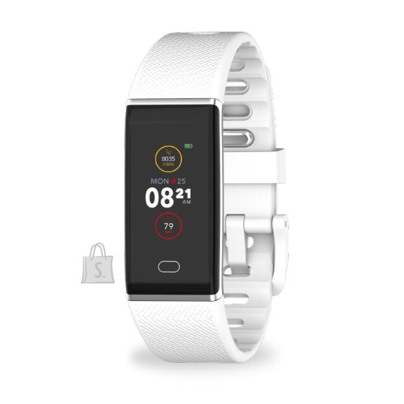 MyKronoz MyKronoz Smartwatch Zetrack  White/ silver, 90 mAh, Touchscreen, Bluetooth, Heart rate monitor, Waterproof, IP67 m