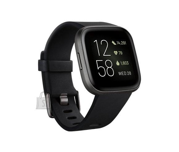 Fitbit Fitbit Versa 2 (NFC) Smartwatch, Black/Carbon Aluminum