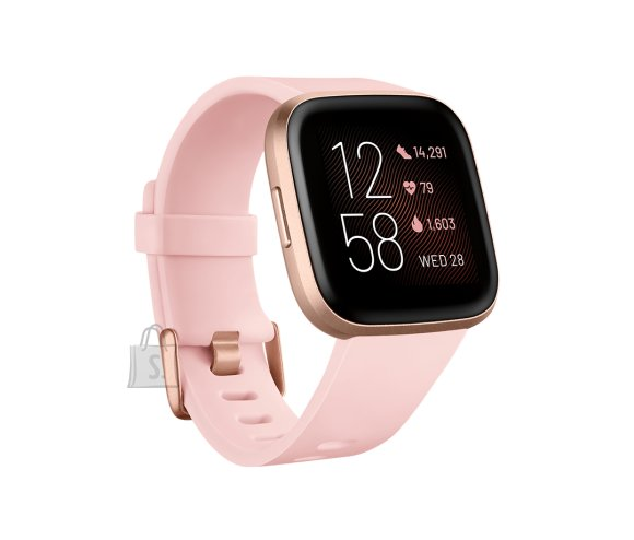 Fitbit Fitbit Versa 2 Smart watch, NFC, OLED, Touchscreen, Heart rate monitor, Activity monitoring 24/7, Waterproof, Bluetooth, Wi-Fi, Petal/Copper Rose Aluminum