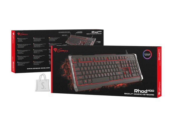 Genesis RHOD 400, Gaming keyboard, RGB LED light, US, Black, USB