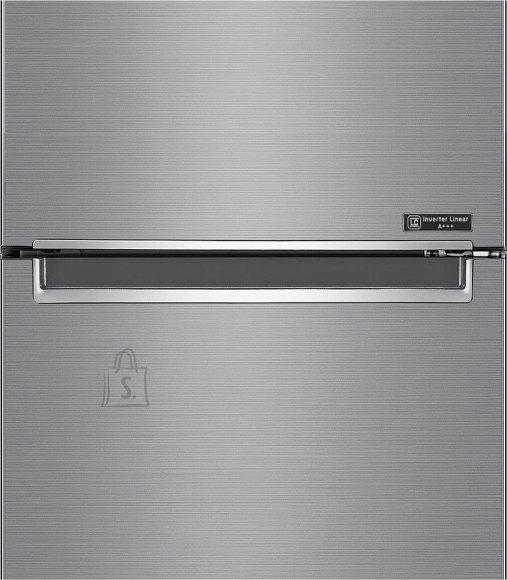 LG LG Refrigerator GBB62PZFFN Free standing, Combi, Height 203 cm, A+++, No Frost system, Fridge net capacity 277 L, Freezer net capacity 107 L, Display, 36 dB, Silver