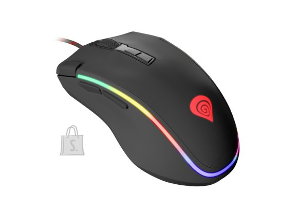 GENESIS Krypton 700 RGB Gaming Mouse, Wired, Black