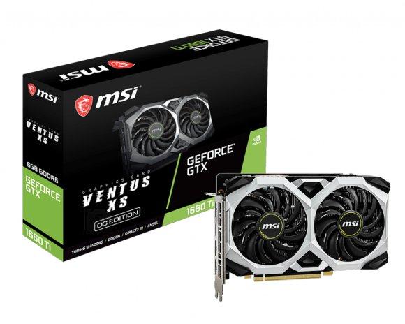 MSI MSI GeForce GTX 1660 Ti VENTUS XS 6G OC NVIDIA, 6 GB, GeForce® GTX 1660 Ti, GDDR6, PCI Express x16 3.0, Processor frequency 1830  MHz, HDMI ports quantity 1, Memory clock speed 12000 MHz