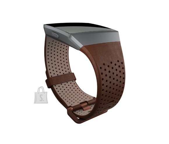 Fitbit Fitbit Ionic Accessory Perforated Leather Band Dark Brown - Small