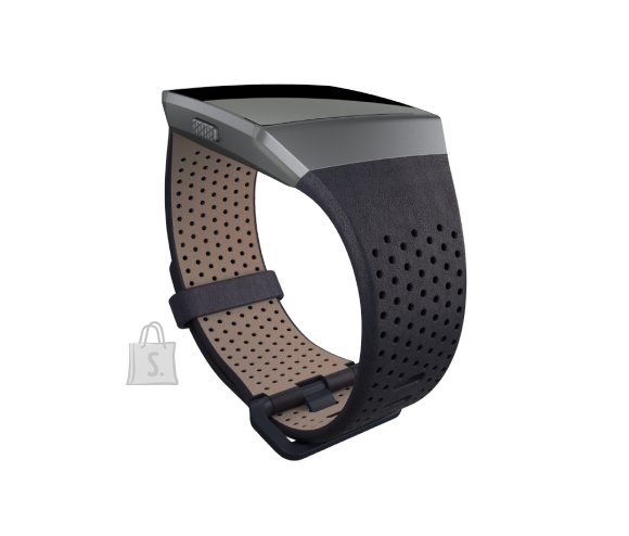 Fitbit Fitbit Ionic Accessory Perforated Leather Band Navy - Large