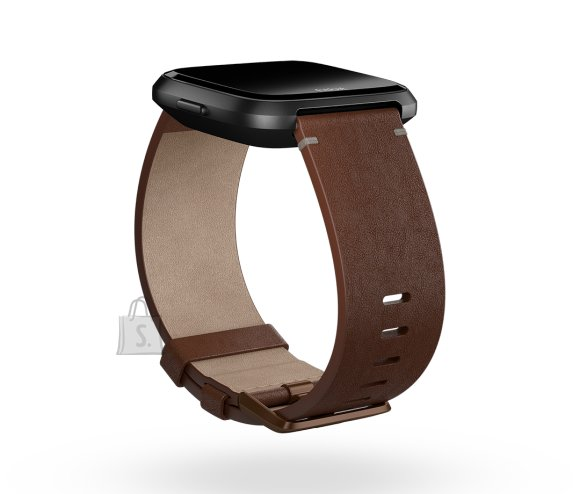 Fitbit Fitbit Versa Accessory Leather Band Cognac - Large