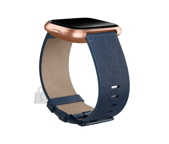 Fitbit Fitbit Versa Accessory Leather Band Navy - Small