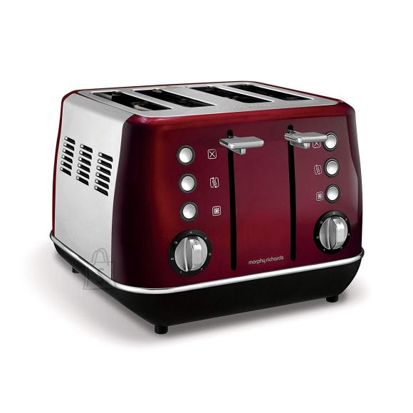 Morphy Richards Morphy richards Evoke Toaster 240108 Power 1800 W, Number of slots 4, Housing material Stainless steel, Red with stainless steel