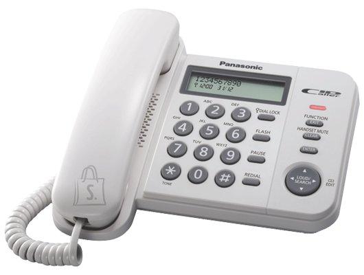 Panasonic Panasonic Corded KX-TS560FXW 588 g, White, Caller ID, Phonebook capacity 50 entries, Built-in display, 198 x 195 x 95 mm