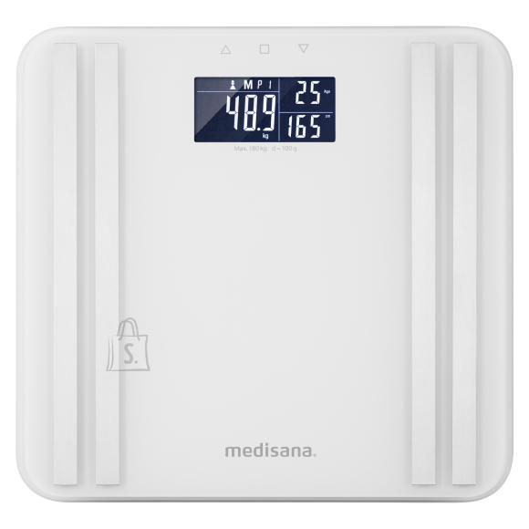 Medisana Medisana Body Analysis Scale BS 465 Memory function, White, Body fat analysis, Body water percentage, Auto power off, Multiple users, Maximum weight (capacity) 180 kg