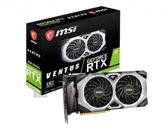 MSI MSI GeForce RTX 2080 S VENTUS XS OC NVIDIA, 8 GB, GeForce RTX 2080 SUPER, GDDR6, PCI Express x16 3.0, Processor frequency 1830 MHz, HDMI ports quantity 1, Memory clock speed 15500 MHz