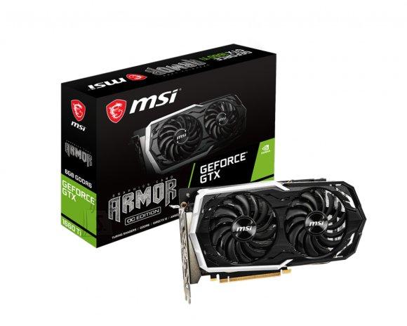 MSI MSI GeForce GTX 1660 Ti ARMOR 6G OC NVIDIA, 6 GB, GeForce GTX 1660 Ti, GDDR6, PCI Express x16 3.0, Processor frequency 1860 MHz, HDMI ports quantity 1, Memory clock speed 12000 MHz