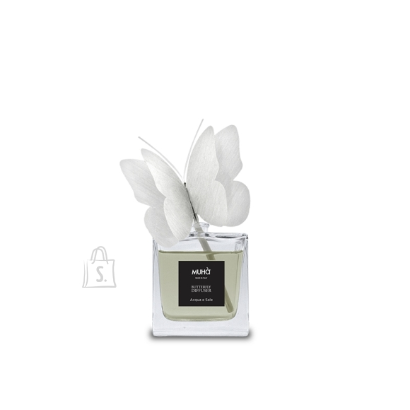 Muha Home perfume with butterfly diffuser G06 Home Fragrance Diffuser, 80 ml, Acquae e Sale, 1 pc(s), White
