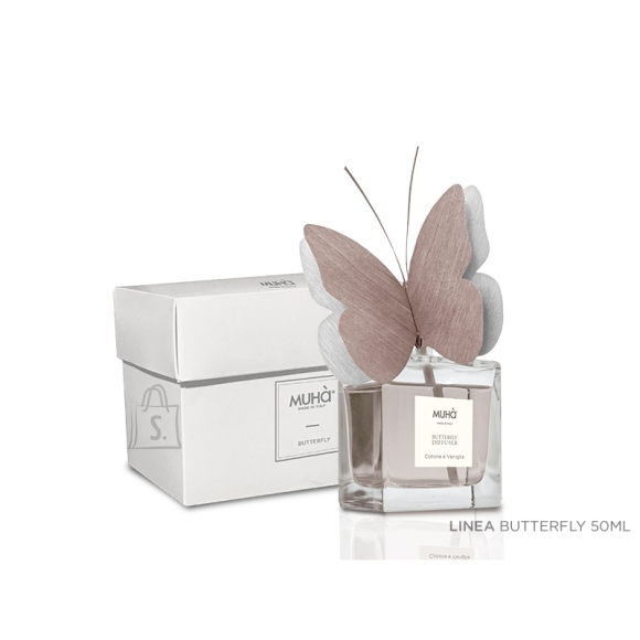 Muha Home perfume with butterfly diffuser N02 Home Fragrance Diffuser, 50 ml, Ambra Antica, 1 pc(s), Pink