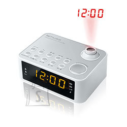 Muse Muse Clock radio  M-178PW White, 0.9 inch amber LED, with dimmer