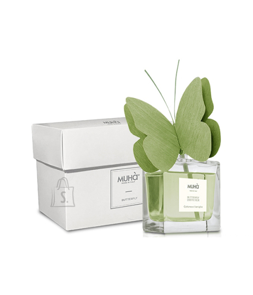 Muha Home perfume with butterfly diffuser N05 Home Fragrance Diffuser, 50 ml, Mosto Supremo, 1 pc(s), Green
