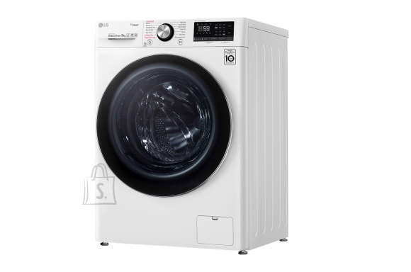 LG LG Washing machine F4WN809S2 Front loading, Washing capacity 9 kg, 1400 RPM, Direct drive, A+++ -30%, Depth 56 cm, Width 60 cm, White, Steam function, LED touch screen, Display, Wi-Fi