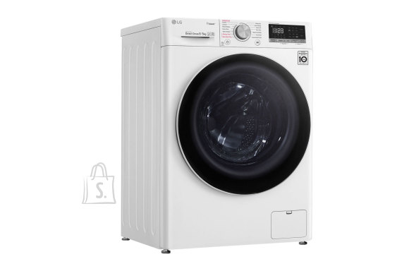 LG LG Washing machine F4DN409N0 Energy efficiency class D, Front loading, Washing capacity 9 kg, 1400 RPM, Depth 56 cm, Width 60 cm, Display, LED touch screen, Drying system, Drying capacity 5 kg, Direct drive, Wi-Fi, White