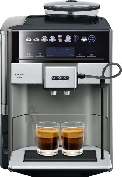 Siemens SIEMENS Coffee Machine TE655203RW Pump pressure 15 bar, Built-in milk frother, Fully automatic, 1500 W, Black/ stainless steel