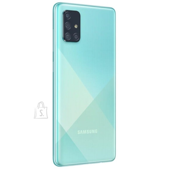 "Samsung Samsung Galaxy A71 A715 Blue, 6.7 "", Super AMOLED, 1080 x 2400, Qualcomm, Snapdragon 730, Internal RAM 6 GB, 128 GB, microSD, Dual SIM, Nano-SIM, 3G, 4G, Main camera 64+12+5+5 MP, Secondary camera 32 MP, Android, 10.0, 4500 mAh"