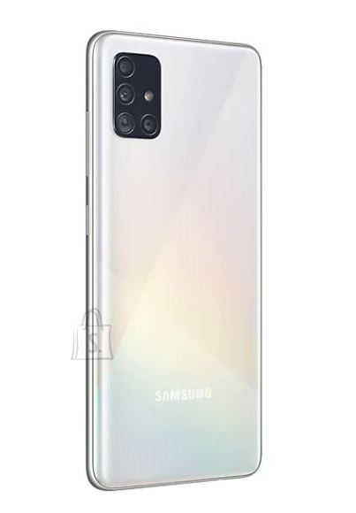 "Samsung Samsung Galaxy A51 White, 6.5 "", Super AMOLED, 1080 x 2400, Exynos, 9611, Internal RAM 4 GB, 128 GB, microSD, Dual SIM, Nano-SIM, 3G, 4G, Main camera 48+12+5+5 MP, Secondary camera 32 MP, Android, 10.0, 4000 mAh"