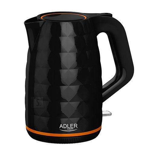 Adler Adler Kettle AD 1277 Standard, Plastic, Black, 2200 W, 360° rotational base, 1.7 L