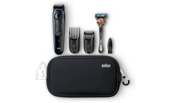 Braun Braun Trimmer with Gillette Razor BT3940 Corded/ Cordless, Wet & Dry, Number of length steps 39, Black/Blue