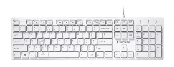 "Gembird Gembird Multimedia ""Chocolate"" Keyboard KB-MCH-03-W UBS Keyboard, Wired, Keyboard layout US, White"