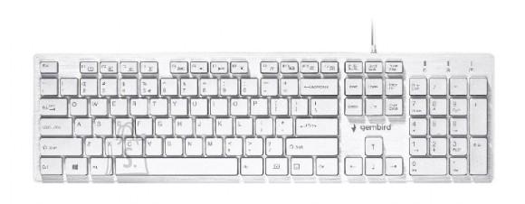 "Gembird Gembird Multimedia ""Chocolate"" Keyboard KB-MCH-03-W UBS Keyboard, Wired, Keyboard layout US, White"