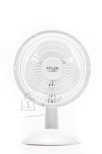 Adler Adler AD 7301 Table Fan, Number of speeds 2, 30 W, Diameter 15 cm, White