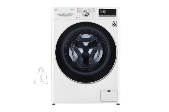 LG LG Washing machine with Dryer F4DV709H1 Front loading, Washing capacity 9 kg, Drying capacity 6 kg, 1400 RPM, Direct drive, A, Depth 56 cm, Width 60 cm, White, Steam function, LED, Drying system, Wi-Fi