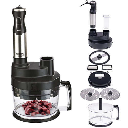 Camry Camry Blender CR 4623 Hand Blender, 1600 W, Plastic, 0.6 L, Ice crushing, Mini chopper, Black/Stainless steel