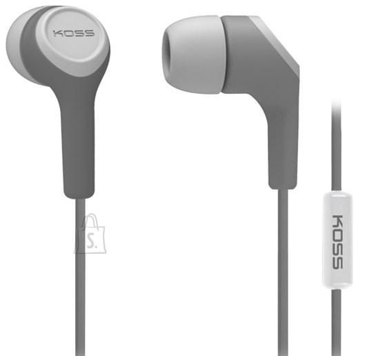 Koss Koss Headphones KEB15iG In-ear, 3.5mm (1/8 inch), Microphone, Grey,