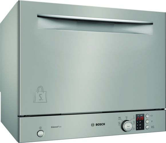 Bosch Bosch Dishwasher SKS62E38EU Free standing, Width 55 cm, Number of place settings 6, Number of programs 6, A+, Display, AquaStop function, Silver Inox