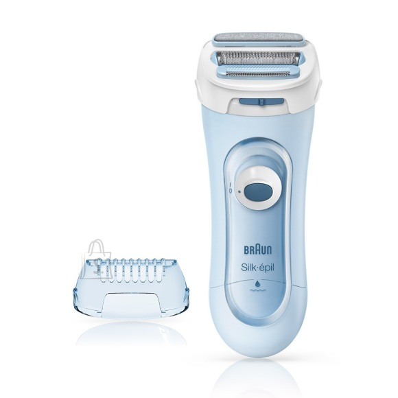 Braun Braun Silk-épil Lady Shaver  5160 Wet use, Battery powered, Number of shaver heads/blades 1, Blue