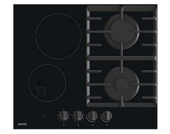 Gorenje Gorenje Hob GCE691BSC Gas on glass + vitroceramic, Number of burners/cooking zones 4, Mechanical, Black