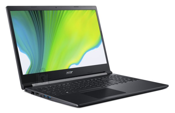 "Acer Acer Aspire 7 A715-75G-577P Charcoal Black, 15.6 "", IPS, Full-HD, 1920 x 1080 pixels, Matt, Intel Core i5, i5-9300H, 8 GB, DDR4, SSD 512 GB, NVIDIA GeForce GTX 1650, GDDR6, 4 GB, No ODD, Windows 10 Home, 802.11 ax/ac/a/b/g/n, Bluetooth version 5.0, Keyboard language English, Keyboard backlit, Warranty 24 month(s), Battery warranty 12 month(s)"