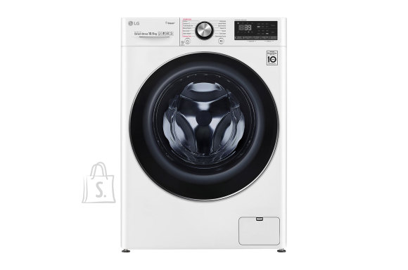 LG LG Washing machine F4WV910P2 Front loading, Washing capacity 10.5 kg, 1400 RPM, Direct drive, A+++ -50%, Depth 56 cm, Width 60 cm, White, Steam function, LED touch screen, Display, Wi-Fi