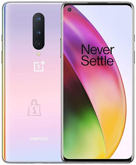 "OnePlus OnePlus 8 Interstellar Glow, 6.55 "", Fluid AMOLED, 1080 x 2400, Snapdragon 865, Internal RAM 12 GB, 256 GB, Dual SIM, 4G, Main camera 48+16+2 MP, Secondary camera 16 MP, Android, 10.0, 4300 mAh, 5G"