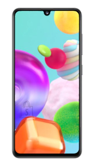 "Samsung Samsung Galaxy A41 Prism Crush Black, 6.1 "", Super AMOLED, 1080 x 2400, Mediatek MT6768 Helio P65, Internal RAM 4 GB, 64 GB, microSD, Dual SIM, Nano-SIM, 3G, 4G, Main camera Triple 48 + 8 + 5 MP, Secondary camera 25 MP, Android, 10, 3500 mAh"