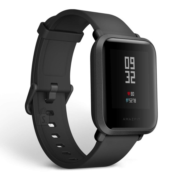 Amazfit Bip S Smart watch, GPS (satellite), Transflective Color Display, Touchscreen, Heart rate monitor, Activity monitoring 24/7, Waterproof, Bluetooth, Carbon Black