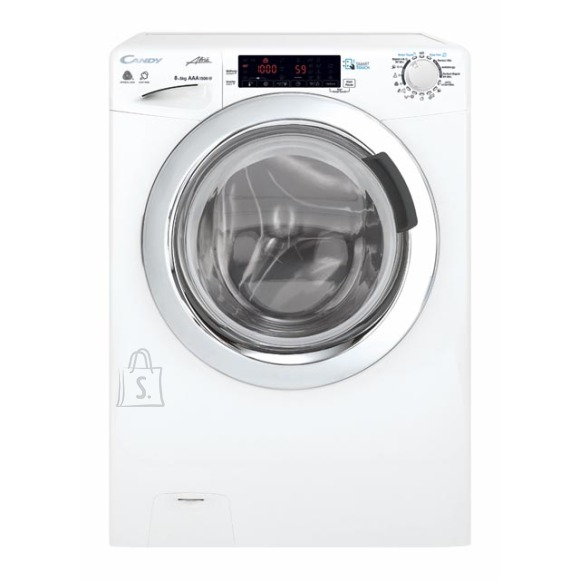 Candy Candy Washing Machine with dryer GVSW 585TWHC/5-S Front loading, Washing capacity 8 kg, Drying capacity 5 kg, 1500 RPM, A, Depth 52 cm, Width 60 cm, White, Drying system, NFC, Steam function, LED, Display,