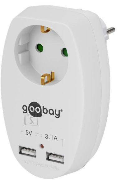 Goobay Goobay 40885  16 A safety socket with 2 USB ports