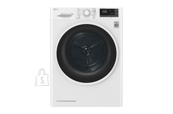 LG LG Dryer Machine RC80U2AV4Q Energy efficiency class A+++, Front loading, 8 kg, Heat pump, LED touch screen, Depth 69 cm, Wi-Fi, White