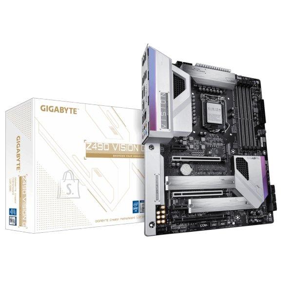 Gigabyte Gigabyte Z490 VISION G Processor family Intel, Processor socket LGA1200, DDR4 DIMM, Memory slots 4, Chipset Intel Z, ATX