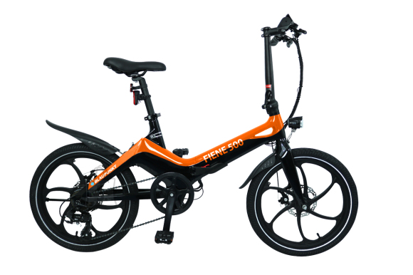 "Blaupunkt Blaupunkt Fiene 500, E-Bike, 250 W, 20 "", 25 km/h, Orange/Black"