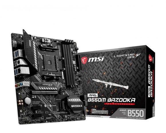 MSI MSI MAG B550M BAZOOKA Processor family AMD, Processor socket AM4, DDR4, Memory slots 4, Chipset AMD B, Micro ATX