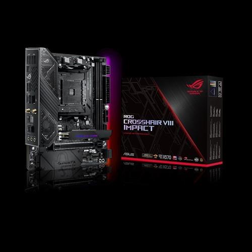Asus Asus ROG CROSSHAIR VIII Impact Processor family AMD, Processor socket AM4, DDR4, Memory slots 4, Number of SATA connectors 4 x SATA 6Gb/s port(s), Chipset AMD X, Mini DTX