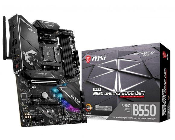 MSI MSI MPG B550 GAMING EDGE WIFI Processor family AMD, Processor socket AM4, DDR4, Memory slots 4, Chipset AMD B, ATX