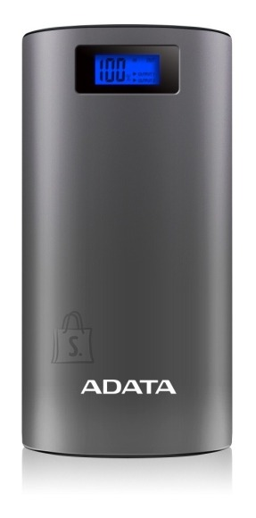 ADATA Power Bank P20000D DC 5V / 2.1A max., Li-Ion, Gray